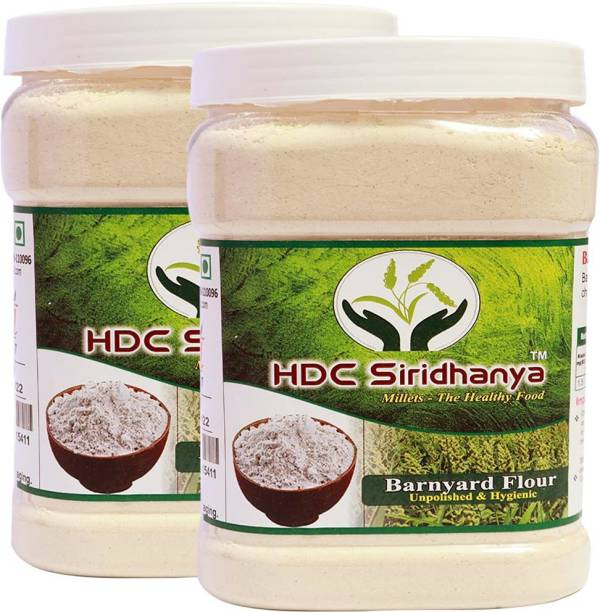 HDC SIRIDHANYA (Unpolished & Organic) Natural Grains Barnyad flour combo Pack (1kg Per Pack) Pack of (2 Kg)