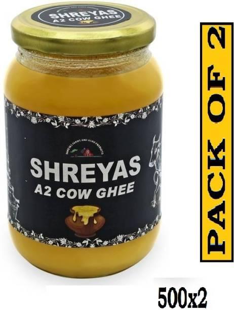 shreyas Combo Pack of A2 Desi Cow Ghee 1000 g Glass Bottle