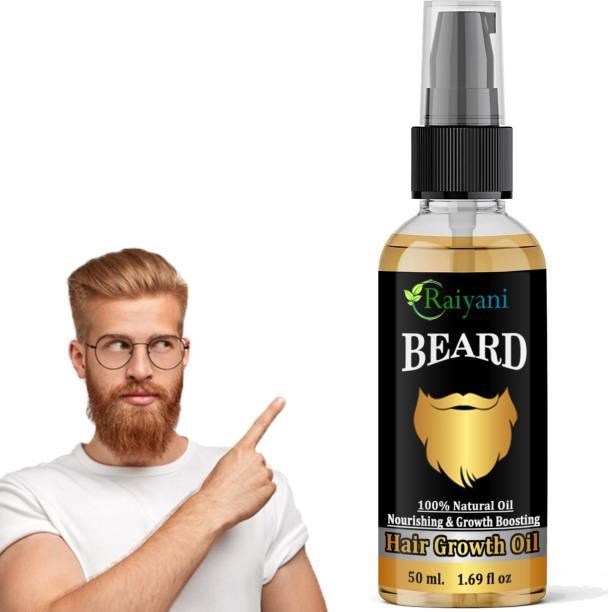 Raiyani Advanced Beard Growth Oil For Men Fast Growth (SLS & Parabean Free) Hair Oil (50 ml)  Hair Oil