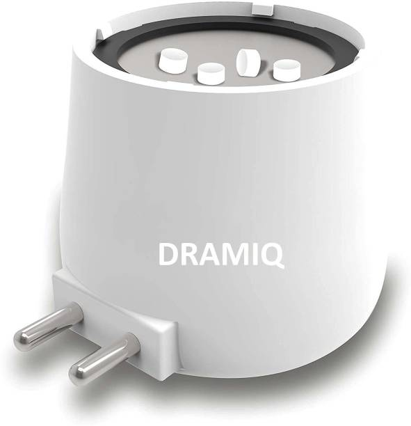 DRAMIQ Camphor Diffuser/Kapoor Dani Cum Night Lamp Made in India Bakhoor Dani Aroma Diffuser & Night Lamp (Bright White LED). Plastic, Steel Incense Holder