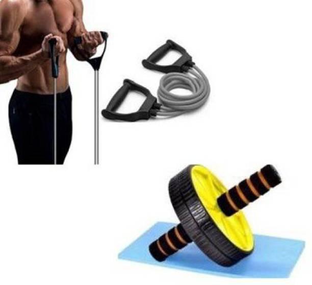ADONYX Combo of ab wheel and toning tube home gym Gym & Fitness Kit