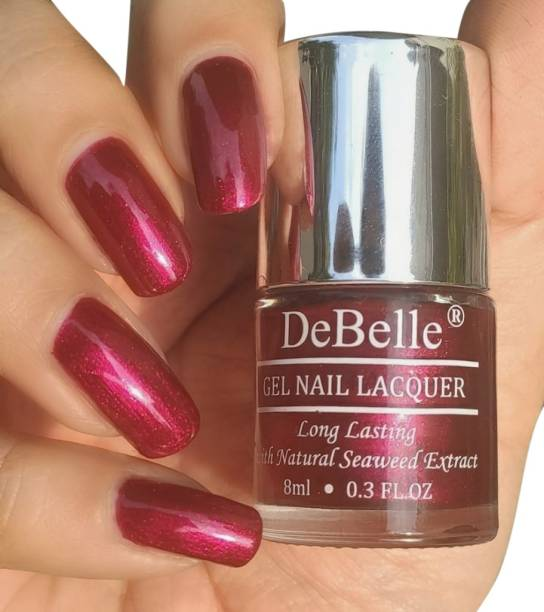 DeBelle Gel Nail Lacquer (Deep Maroon Pearl Finish) Antares
