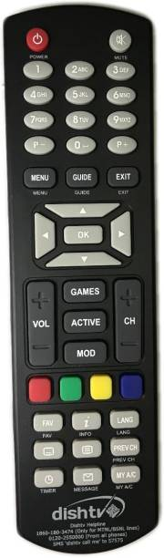 King Enterprise DISH TV  REMOTE FOR SETUP BOX DISH TV Remote Controller