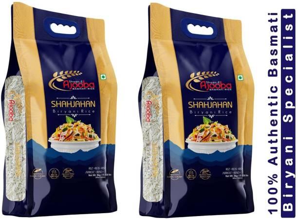 Ajooba Basmati Rice   Extra Long Grain & Aged   100% Authentic 1121 Basmati   (Biryani Specialist) 5Kg X (Pack of-2) Basmati Rice (Long Grain, Raw)