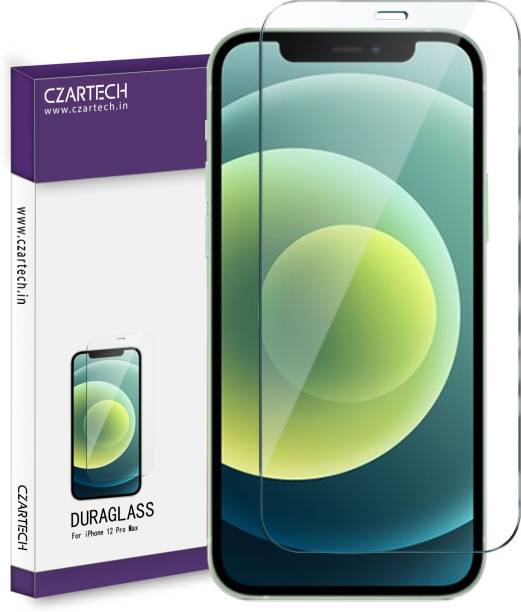 CZARTECH Tempered Glass Guard for Apple iPhone 12 Pro Max