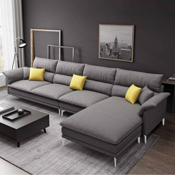 Woodcasa Fressia RHS L Shape Fabric 5 Seater  Sofa