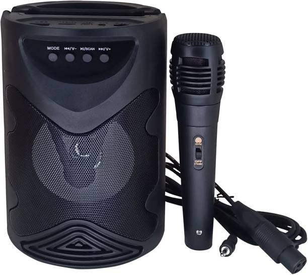 Worricow HD Sound Subwoofer Splashproof Speakers Bluetooth Speaker With Handheld Karaoke Singing Mic & Mobile Holding Space |Dustproof |Splashproof |Speaker |modern design, strong, durable Music Box 10 W Bluetooth PA Speaker