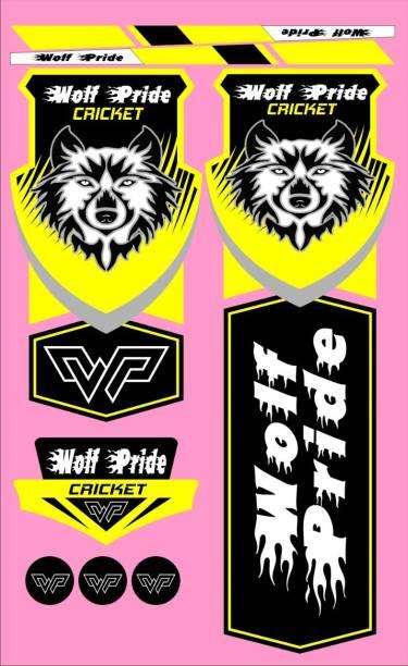 WOLF PRIDE WP CLASSIC CRICKET BAT STICKER Bat Sticker (Yellow) Bat Sticker