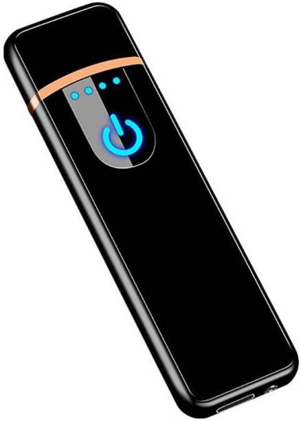 NVIRAV USB Charging Finger Touch Sensor Electric Lighter, Flameless Rechargeable Lighters, Mini Smart Fingerprint Sensor Windproof Electronic Lighters, Upgrade Plasma Mute Lighter for Camping Indoor Outdoor Cigarette Lighter TOUCH LIGHTER CL005TSB Cigarette Lighter
