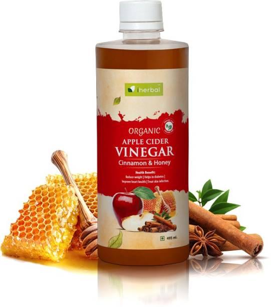iherbal Apple Cider Vinegar Organic Raw Unfiltered (Honey AND Cinnamon) 500ML Vinegar