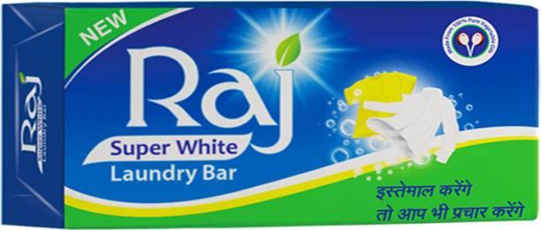 Raj Super White 1KG Detergent Bar