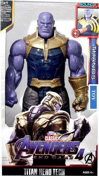 WOW Toys-Delivering Joys of Life Big and realistic Action figure of Thanos Toy|| Heavyweight|| LED Light and Sound Effects
