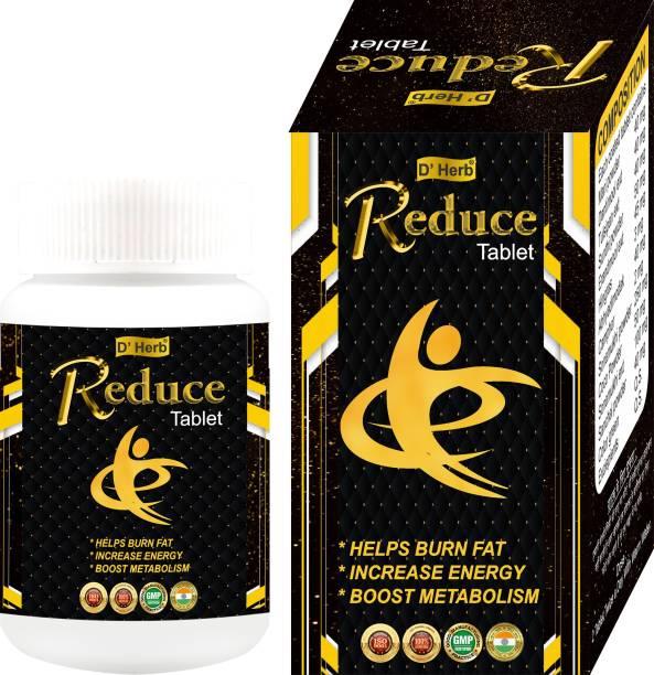 D' Herb Reduce Tablet 2 Month Pack(120 Tab)/ Helps In Loose Fat/ Helps in Increase Energy/ Helps In Boost Metabolism