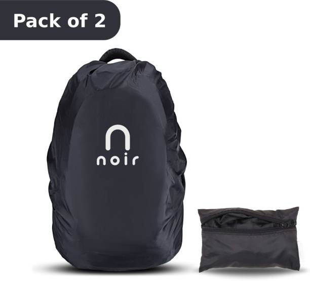 Noir Homes Rain and Dust Cover with Pouch 100% Waterproof, Dustproof Bag Cover for Backpack, Laptop Bags, School/College/Office/Trekking Bags Pack of 2 Dust Proof, Waterproof Laptop Bag Cover, Luggage Bag Cover, School Bag Cover, Trekking Bag Cover