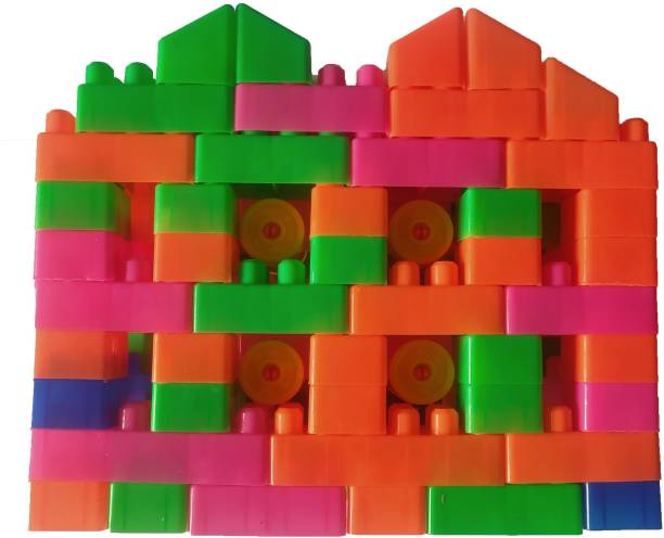 Stecky BEST 2021 EDITION NEW ARRIVAL 100 Pcs Building Blocks,Creative Learning Educational Toy For Little Boys and Girls Kids Puzzle Assembling Building Unbreakable Toy Set