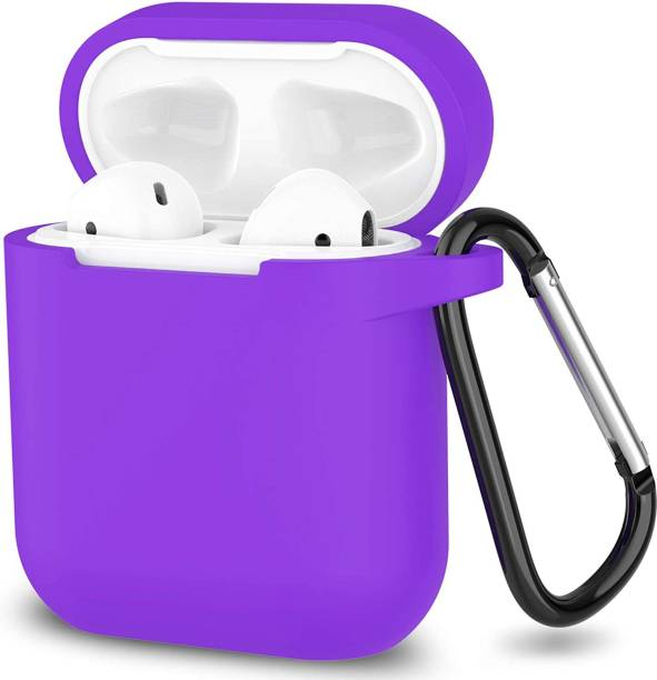 Dallas Back Cover for Compatible with AirPods 1&2 Case, Soft Silicone Protective Covers Skin (Front LED Visible)