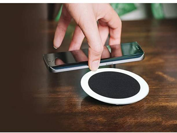 VRT Wireless Charger with LED Light for iPhone 12/SE (2020) 11/11Pro/11Pro Max/Xs/Xs MAX/XR/X/8/8+,Galaxy S20+/Note 20/10/10+/S10/S10+/S10E/Note9/S9 and Qi Enabled Devices (White) Charging Pad
