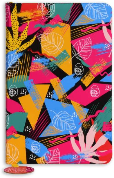 doodle Bright Petals Notebook A5 Diary Ruled 160 Pages