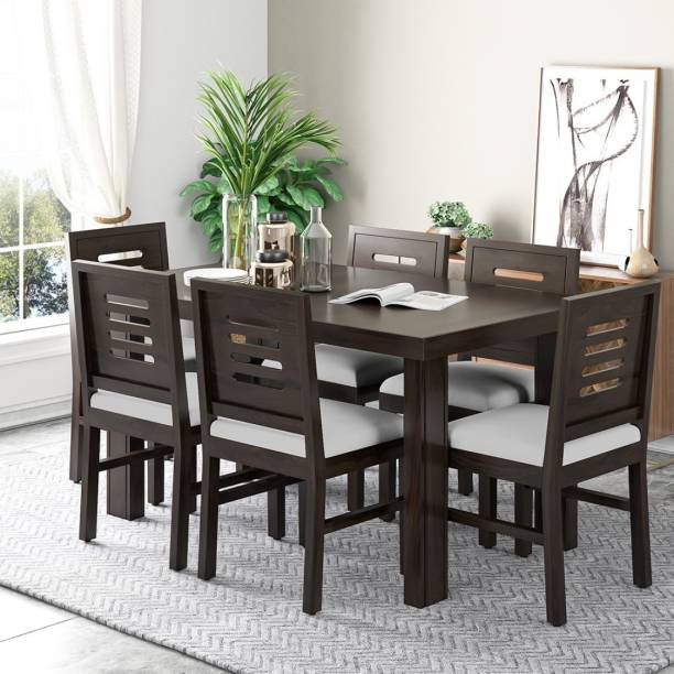 Douceur Furnitures Solid Wood 6 Seater Dining Set