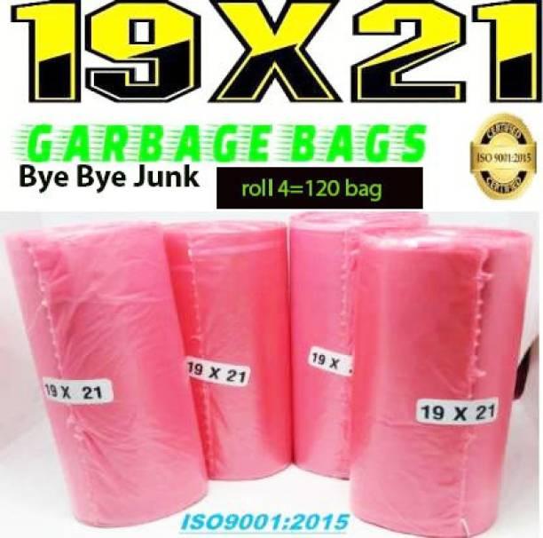 Bye Bye JUNK red 19 x 21 MEDIUM PACK OF 4 ( 120 BAGS ) Medium 14 L Garbage Bag