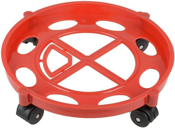 Flipkart SmartBuy Plastic Gas Cylinder Trolley with Wheels|Gas Trolley|Lpg Cylinder Stand Gas Cylinder Trolley
