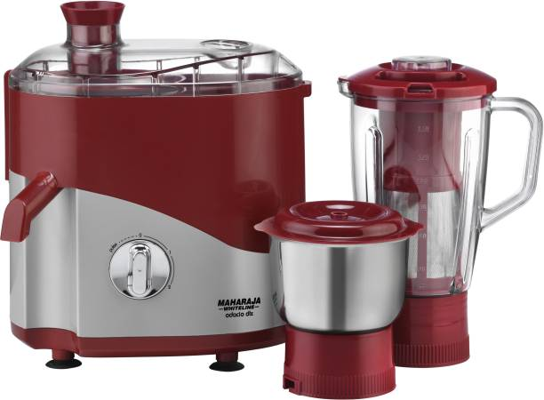 MAHARAJA WHITELINE by MAHARAJA WHITELINE Odacio Dlx JX1-158 550 W Juicer Mixer Grinder (2 Jars, Cherry Red)