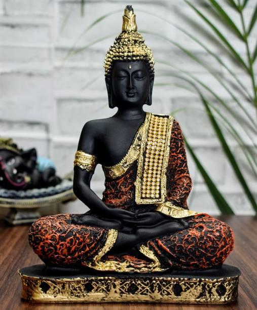 Kaprila Craft Vastu Fangshui Religious Idol of Lord Gautama Meditating Lord Buddha Statue Decorative Showpiece Decorative Showpiece  -  23 cm