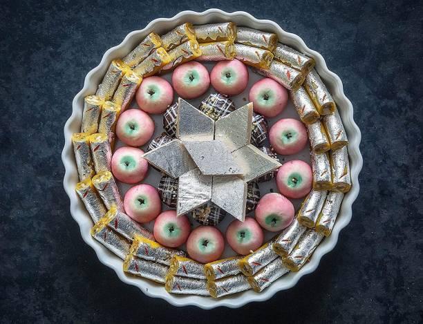 Dessert Drama Assorted Kaju Mithai Hamper Pack- Katli, Kesar Kaju Roll, Kaju Apple, Chocolate Kaju Ladoo Box