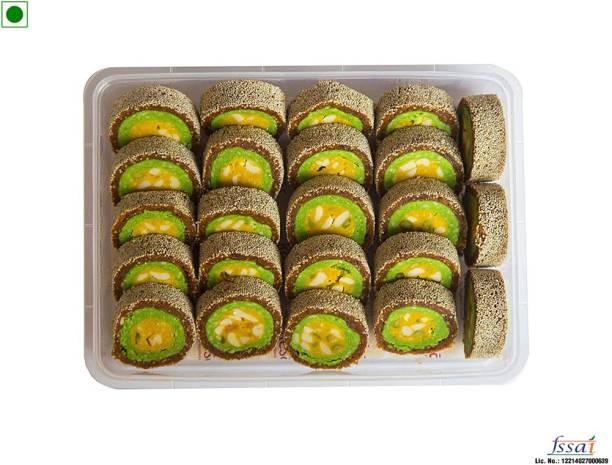 Dessert Drama Kaju Anjeer Roll - pack made with Desi ghee, best cashews Box