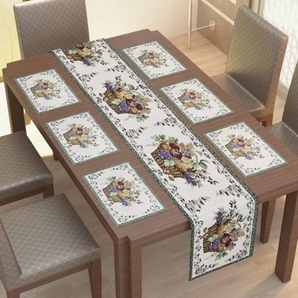 KESHAV FAB White Table Linen Set