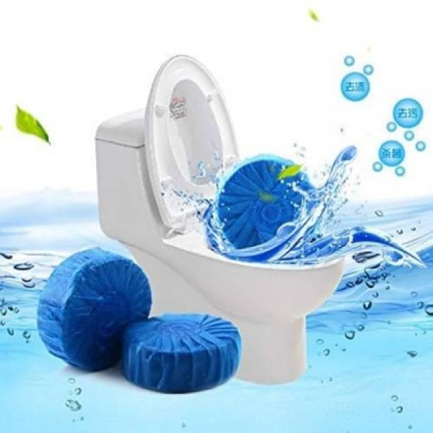 CRYSTALSAG Disinfect Toilet Cleaning Tablet, Bowl Cleaner Deodorizer Bathroom Tablet Ocean Block (Pack of 10 Pcs, Color: Blue) Lavender Block Toilet Cleaner