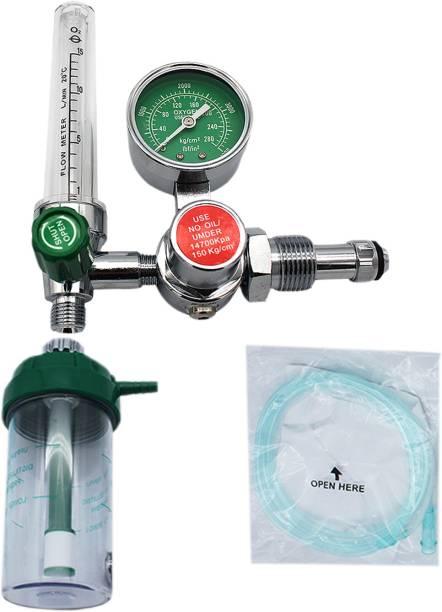 Manas Oxygen Flow Meter Adjustment Oxygen Valve With Regulator Oxygen Flow Meter With Rotameter & Humidifier Bottle.Oxygen Flow Meter With Regulator. Wall Mount Oxygen Cylinder Holder Oxygen Cylinder