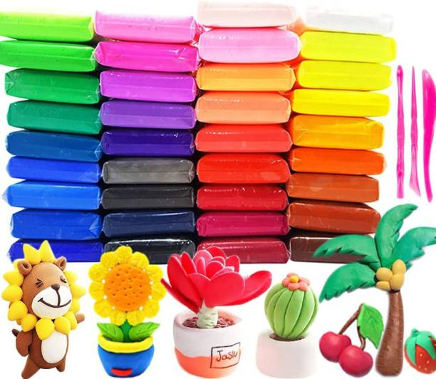 Little's Cry Air Dry Clay For Kids DIY Ultra Light Modeling Bouncing Clay Kids 12 Different Color Clay Creative Art For Children (Art Clay Pack of 36pc)
