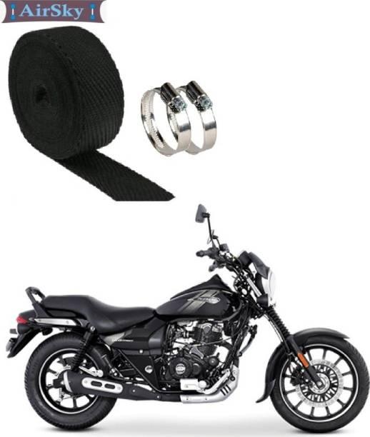 AIRSKY Exhaust Heat Shield Silencer Wrap With Clamp (3 Mtrs) For Bajaj Avenger Bike Bike Exhaust Heat Shield