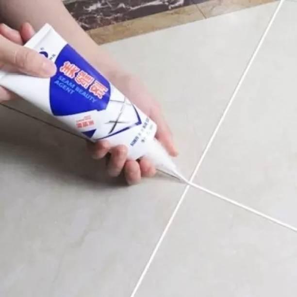 CRAZYGOL Tiles Gap Filler Agent, Waterproof Grout Sealant Agent (White Color - 180ml)for Kitchen, Bathroom, Balcony, Terrace Crack Filler Adhesive