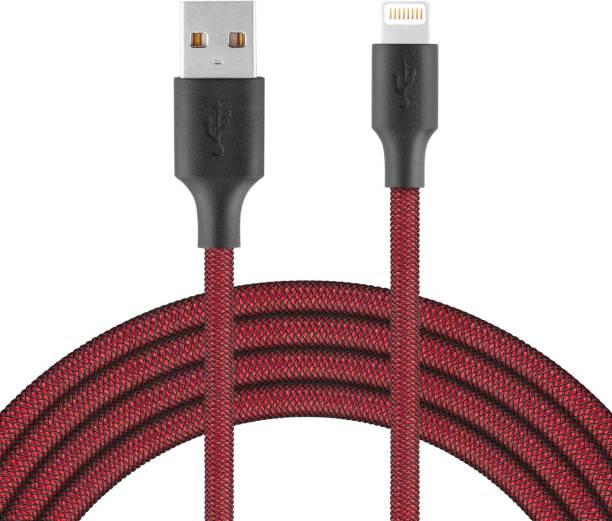 Para USB to Lightning Nylon double Braided cable 1M 1 m Nylon PET Braided Lightning Cable