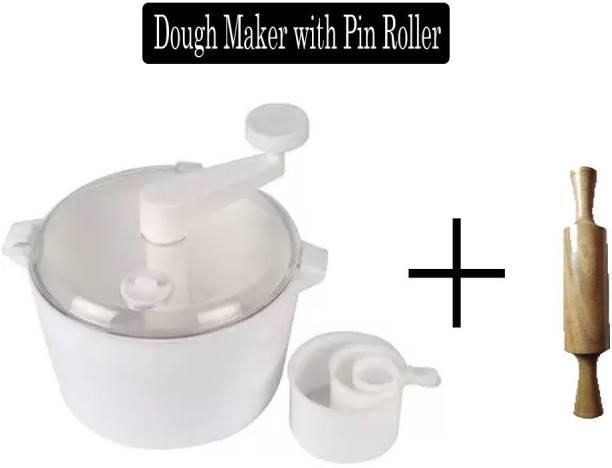 XVAIN ATTA Maker/ Plastic Vertical Dough Maker with pin roller Plastic, Wooden Detachable Dough Maker