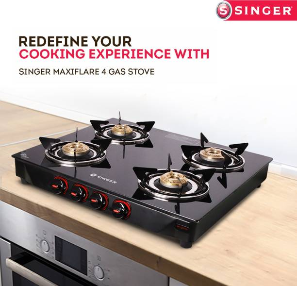 Singer Maxiflare 4 GS Glass Manual Gas Stove