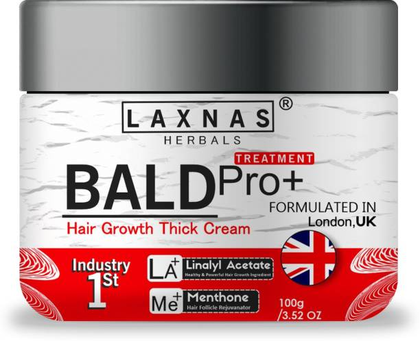 Laxnas Herbals Bald Pro+ Treatment Hair Growth Thick Cream For Baldness Treatment, For Hair Regrowth, For Hairfall Control