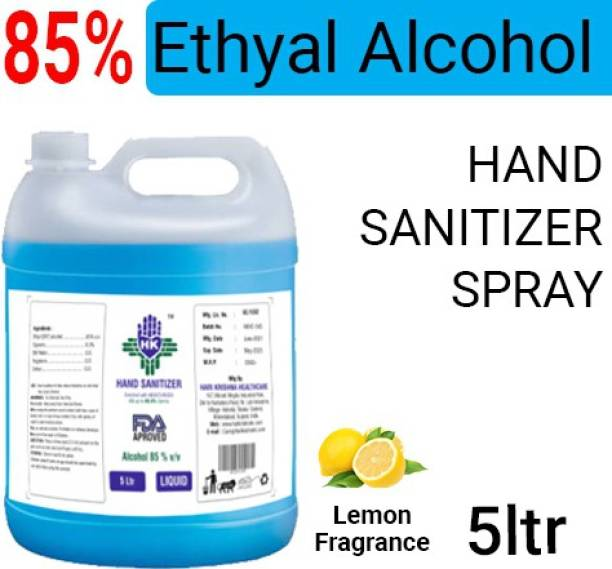 Hari Krishna Healthcare Hand sanitizer 85% Alcohol Hand Sanitizer Can