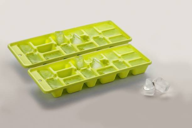 Polyset Innovative ICE Tray - Green,Set Of 2 Green Plastic Ice Cube Tray