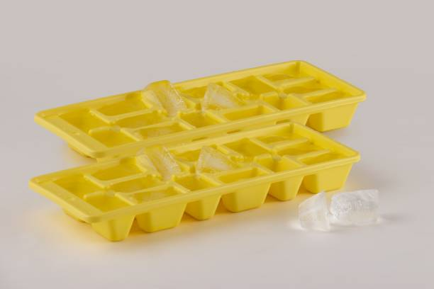 Polyset Innovative ICE Tray - Yellow,Set Of 2 Yellow Plastic Ice Cube Tray