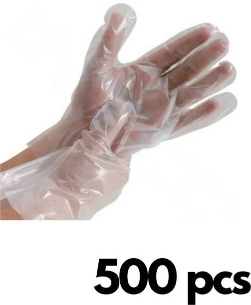 Black Bunny 250 Pair Wet And Dry High-Density Multi-Purpose Clear Blue Eco-Friendly Plastic Polyethylene Cooking, Cleaning, Kitchen Food Handling Hand Gloves Set Polyisoprene Examination Gloves 500 pcs 250 pairs Polyisoprene Examination Gloves Polyisoprene Surgical Gloves (Pack of 500) Polyisoprene Examination Gloves