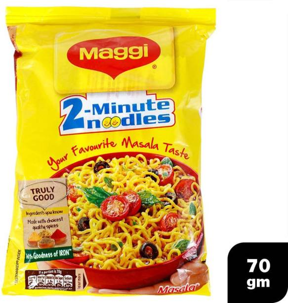 Maggi 2-Minute Masala Instant Noodles 70 g Pack of 12 (12 X 70G) Instant Noodles Vegetarian