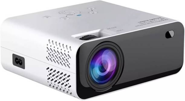 VIVICINE E450 Smart Projector Android 720P HD Smart Projector for Home 1GB RAM 8GB ROM 4000 Lumens Home Theater hd Projector 1080p for Home WiFi Bluetooth Android Apps 4000 lm LED Corded Portable Projector