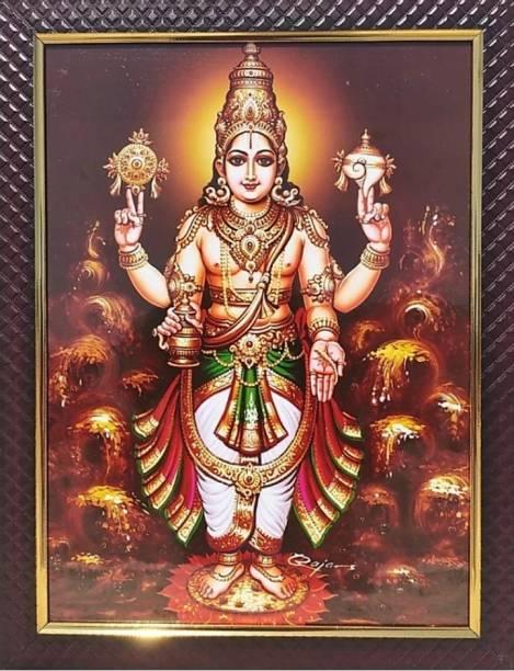 FRAMTASTIC Dhanvantari God Photo Religious Frame