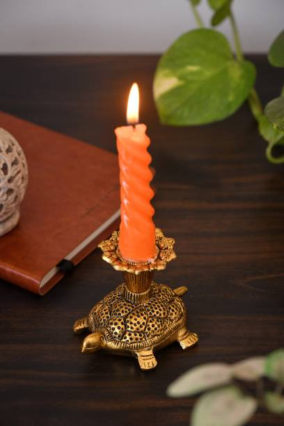 Fashion Bizz Turtle/Tortoise Candle Holder,Metal Candle Stand for Home Decoration,Hotel Decoration, Candle Light Dinner & Dining Table Animal Showpiece Figurine Candle Holder Aluminium 1 - Cup Candle Holder