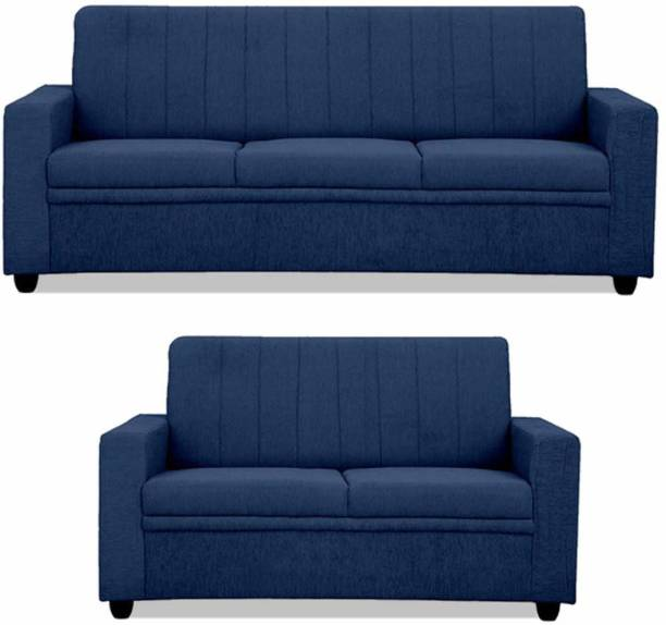 CHANDRIKA ENTERPRISES Fabric 3 + 2 BLUE Sofa Set