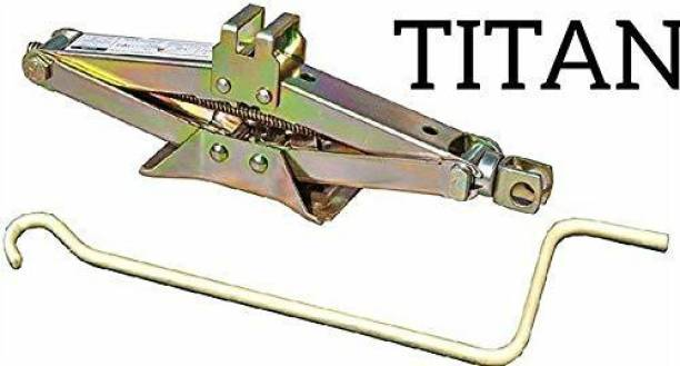 Titan 2 Ton Vehicle Scissor Jack With Handle for All Cars (2000Kg) Vehicle Jack Stand