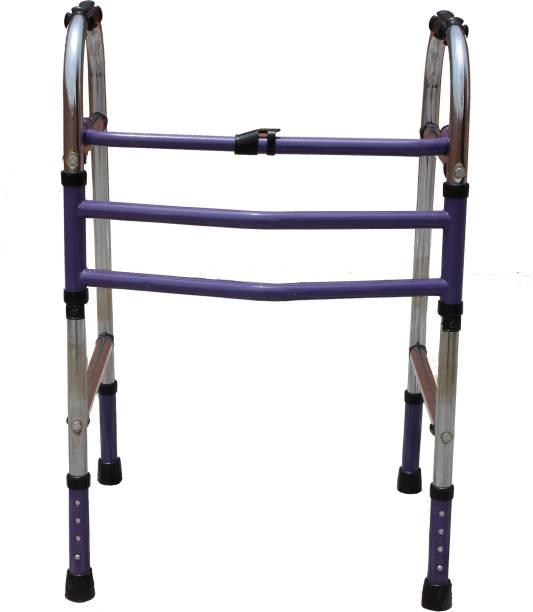 KDS SURGICAL Height Adjustable Foldable Men/Women/Old Age People Walker Walking Stick